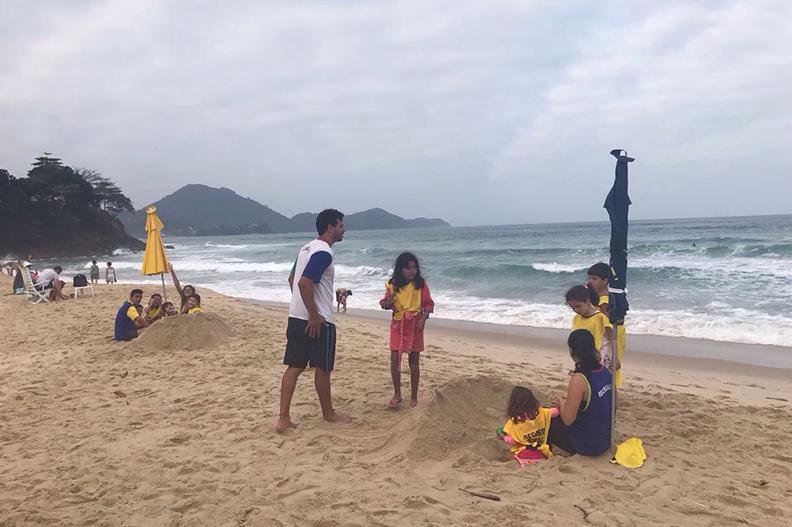 Recreação para crianças no hotel Recanto das Toninhas